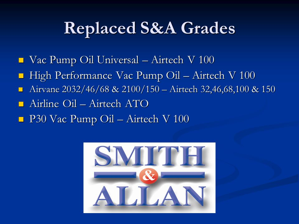 Replaced S&A Grades Vac Pump Oil Universal – Airtech V 100