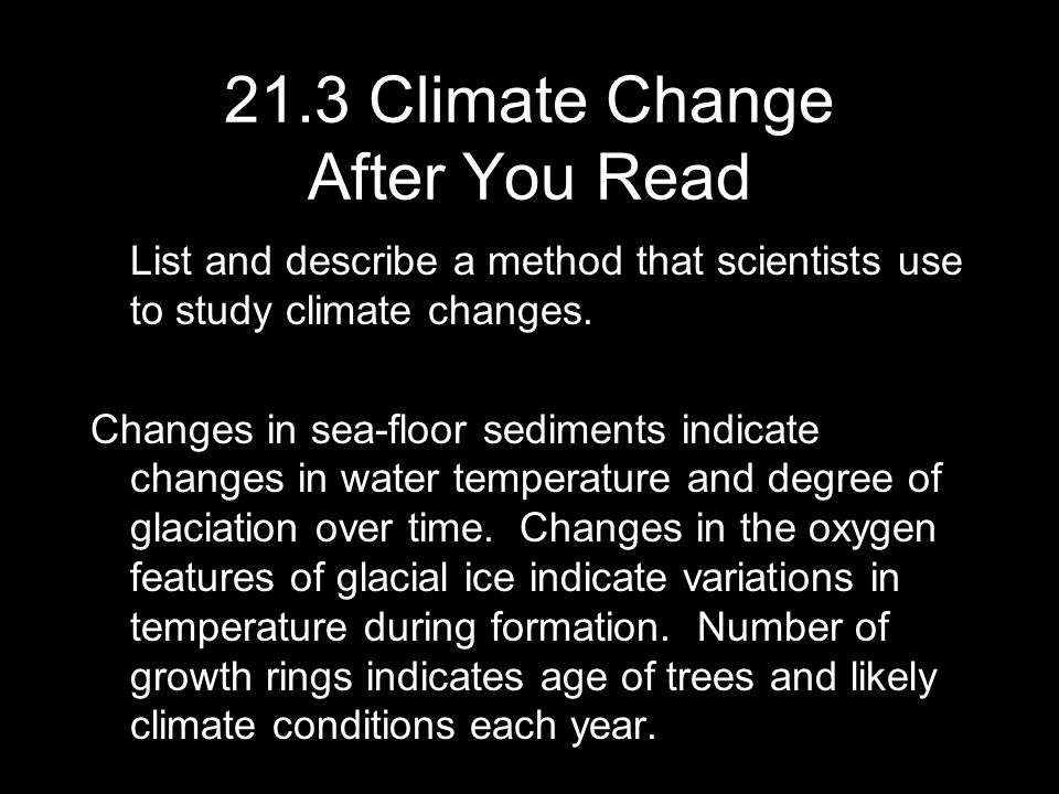 21.3 Climate Change After You Read