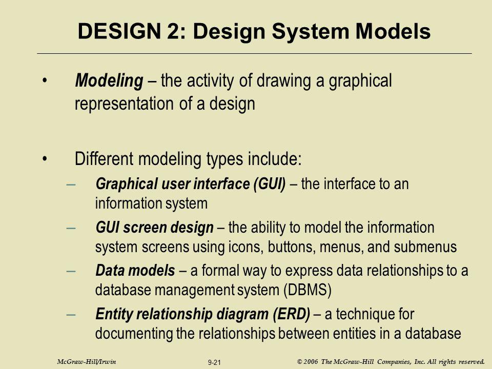 DESIGN 2: Design System Models