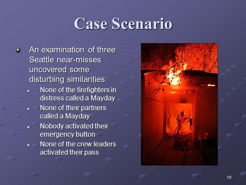 Case Scenario An examination of three Seattle near-misses uncovered some disturbing similarities.
