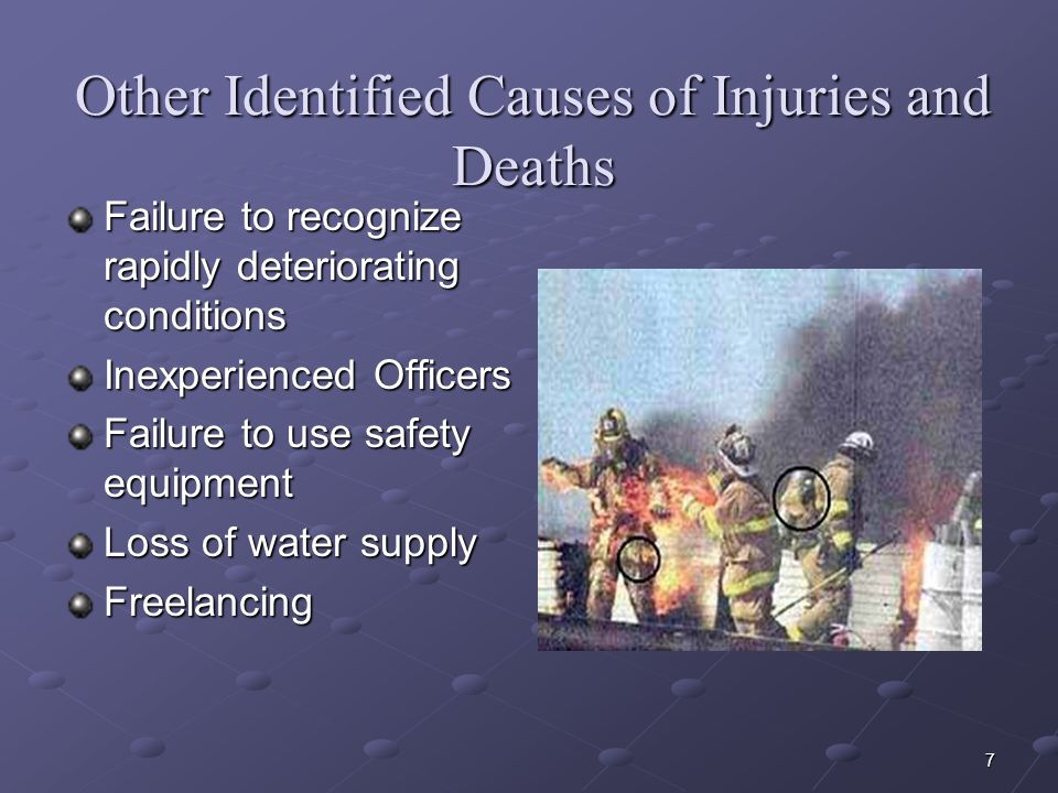 Other Identified Causes of Injuries and Deaths