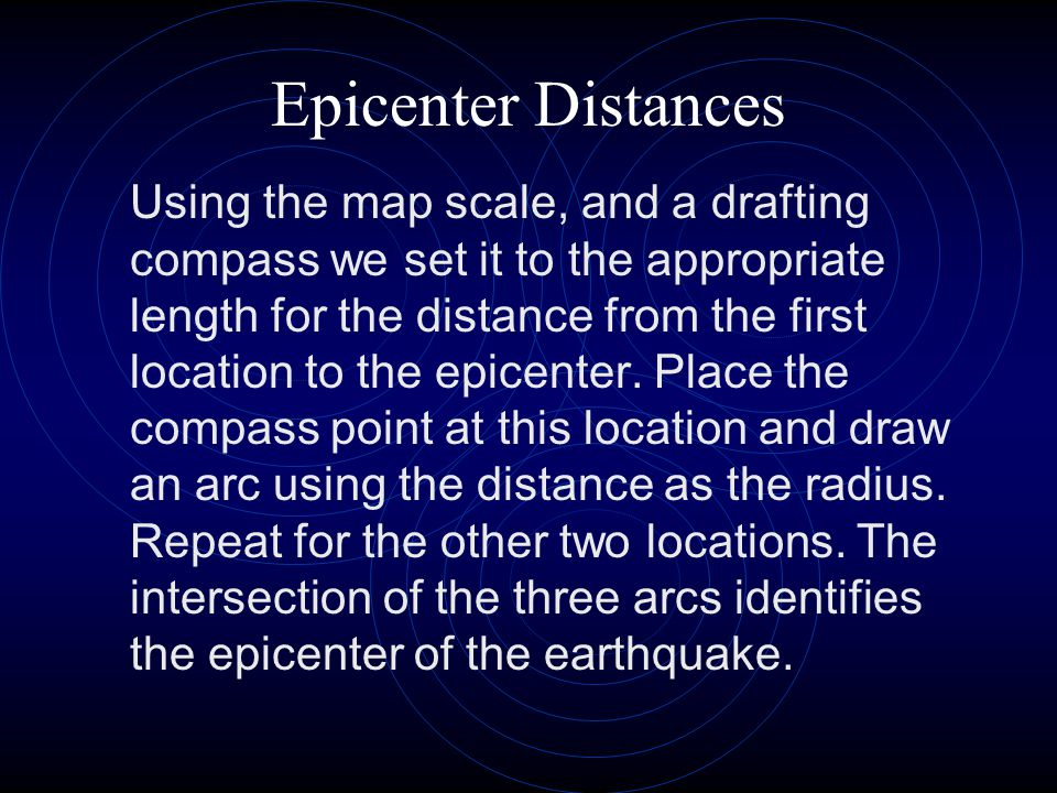 Epicenter Distances