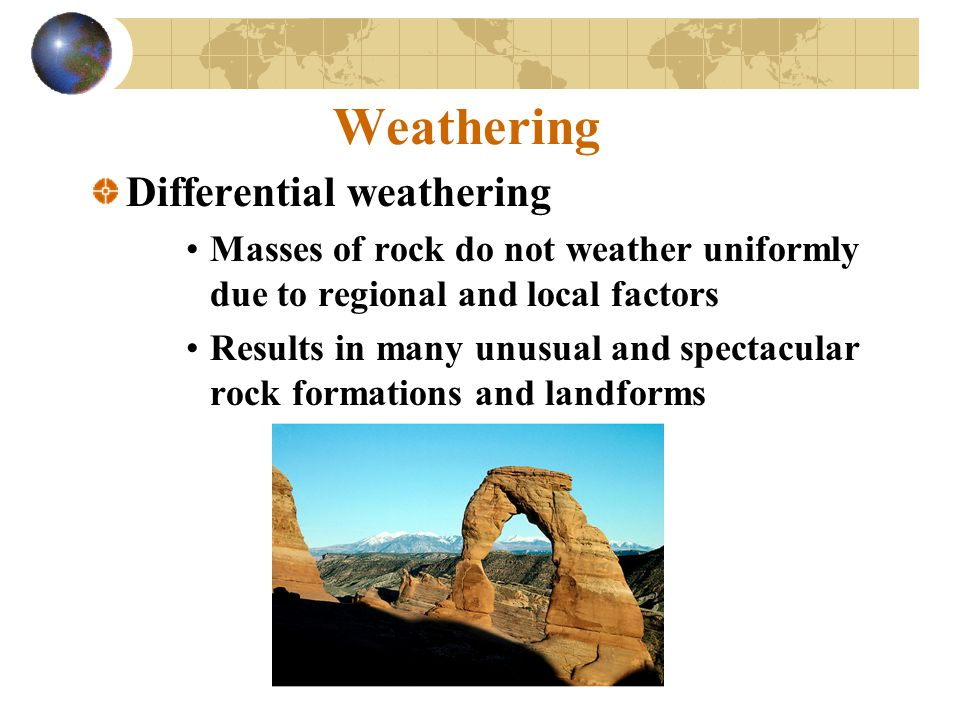 Weathering Differential weathering