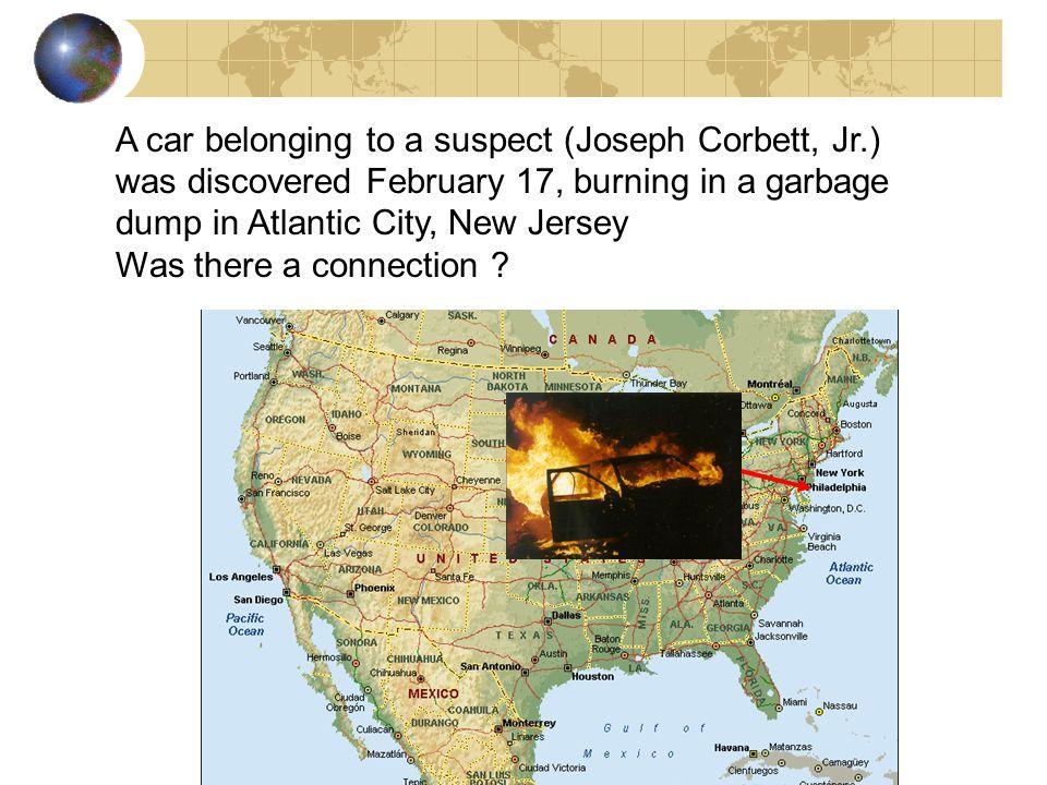A car belonging to a suspect (Joseph Corbett, Jr
