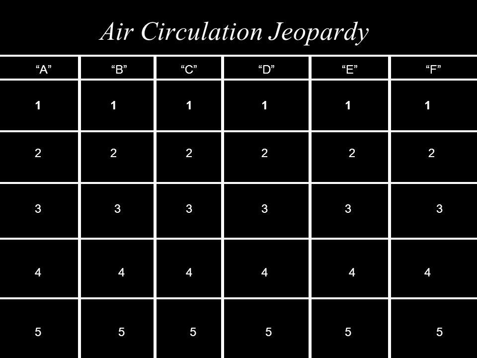 Air Circulation Jeopardy