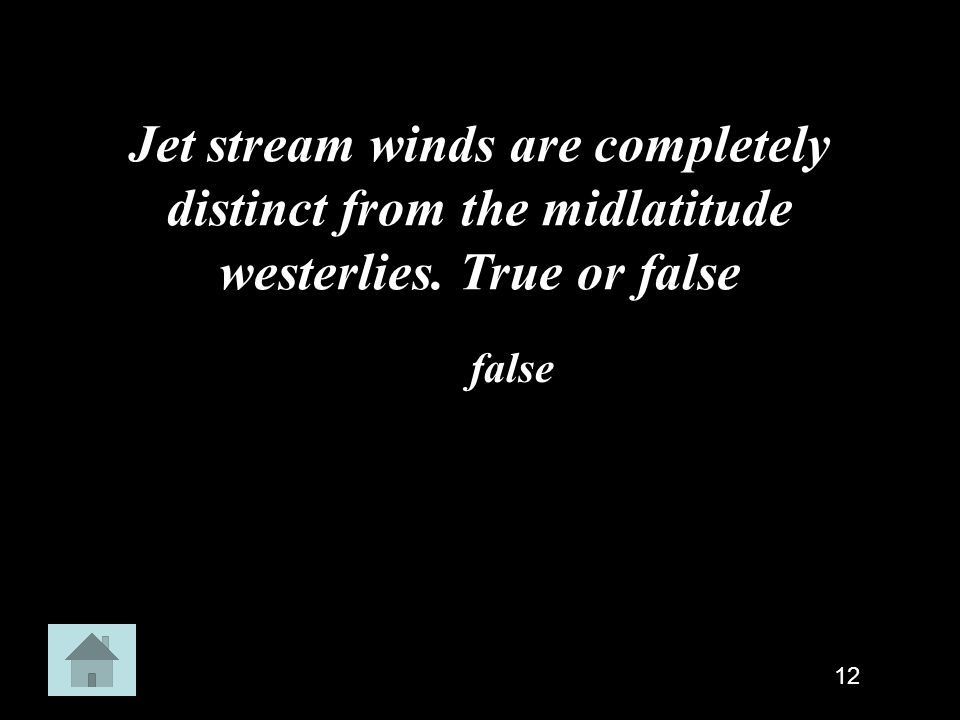 Jet stream winds are completely distinct from the midlatitude westerlies. True or false