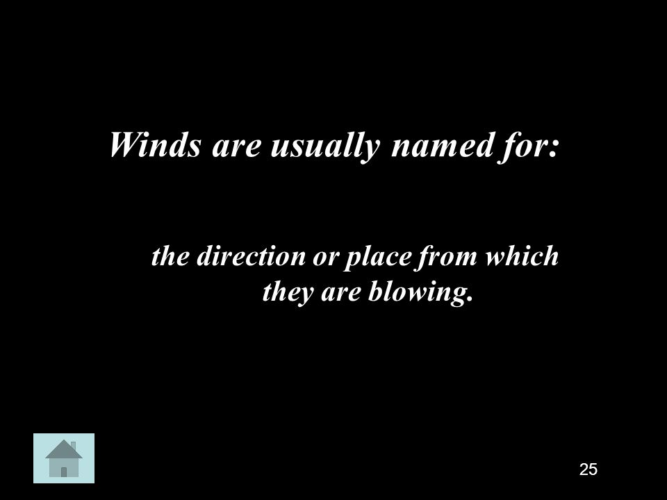 Winds are usually named for: