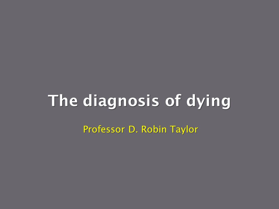 Professor D. Robin Taylor