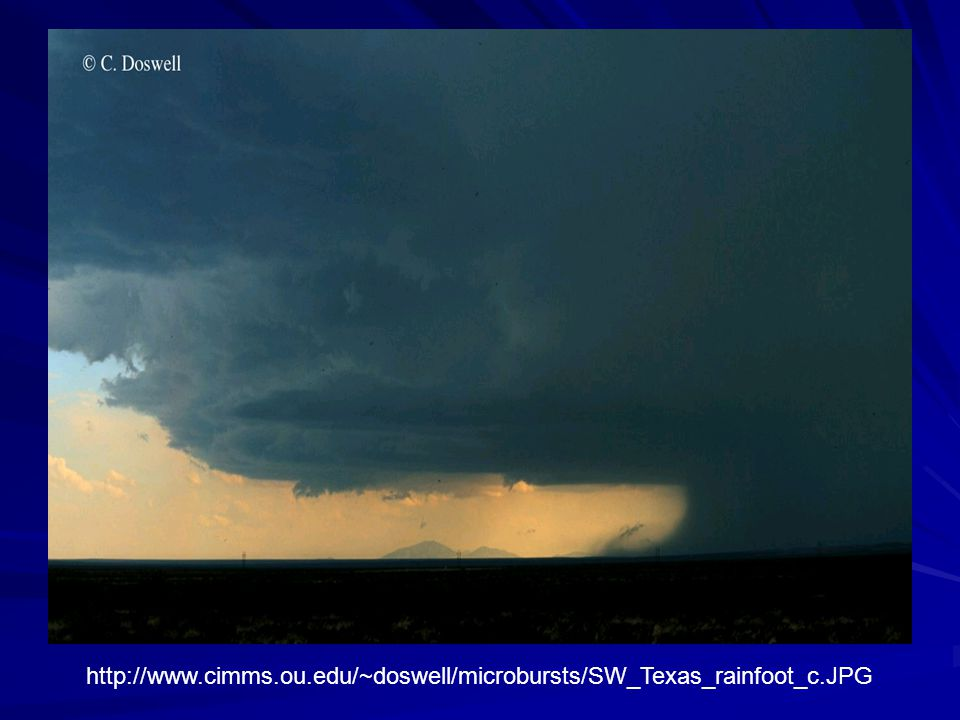 http://www. cimms. ou. edu/~doswell/microbursts/SW_Texas_rainfoot_c