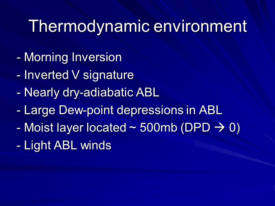 Thermodynamic environment