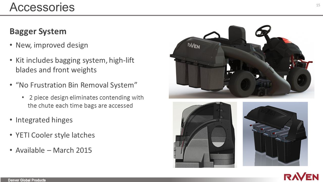 Accessories Bagger System New, improved design