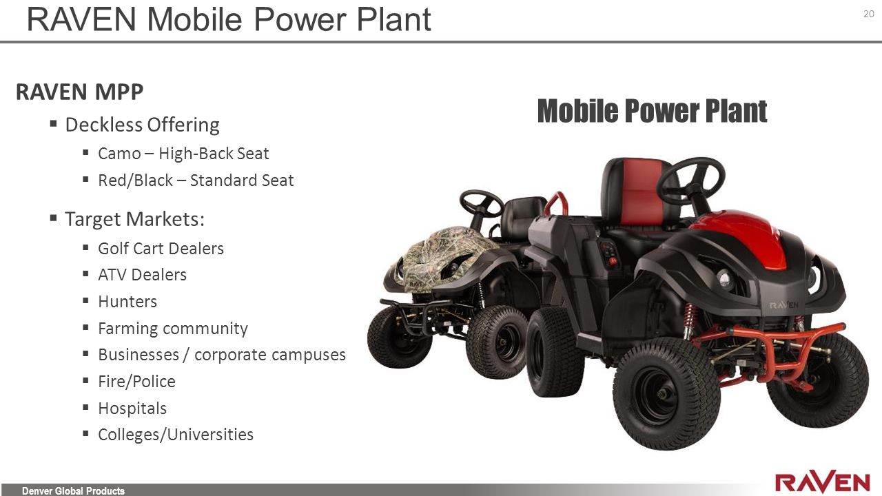 RAVEN Mobile Power Plant