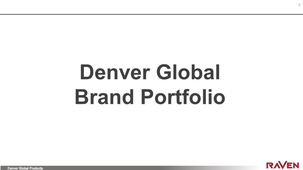 Denver Global Brand Portfolio