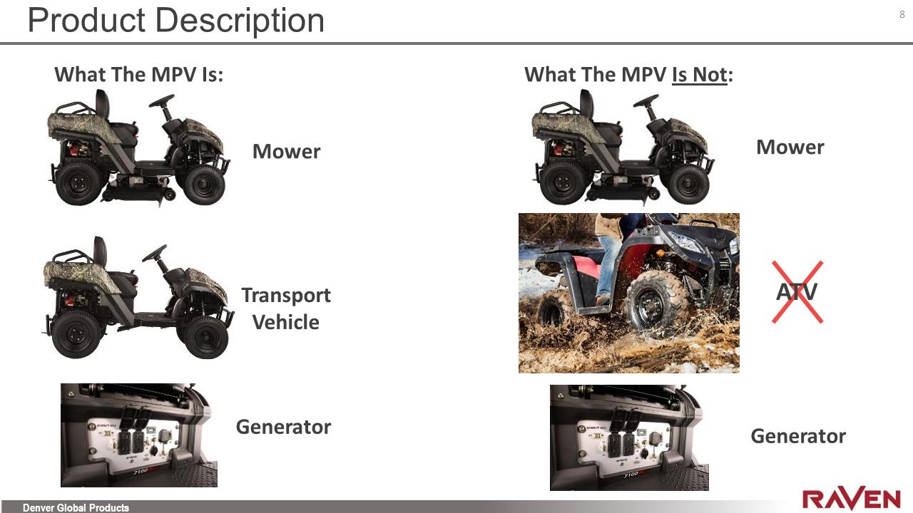 Product Description ATV What The MPV Is: What The MPV Is Not: Mower
