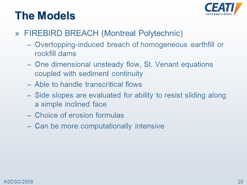 The Models FIREBIRD BREACH (Montreal Polytechnic)