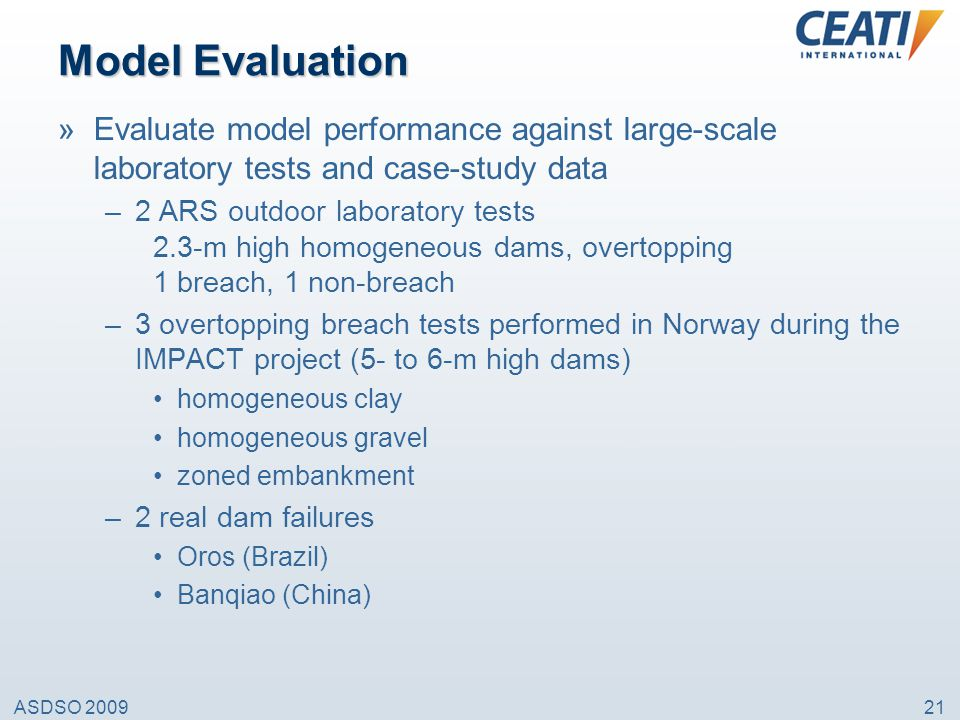 Model Evaluation Evaluate model performance against large-scale laboratory tests and case-study data.