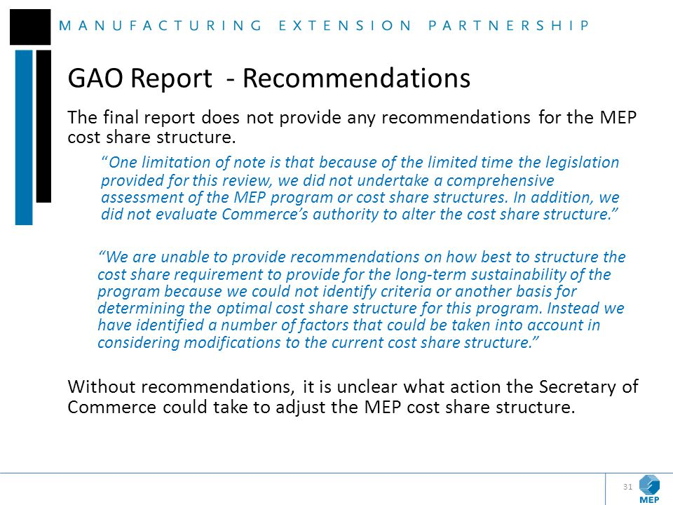 GAO Report - Recommendations