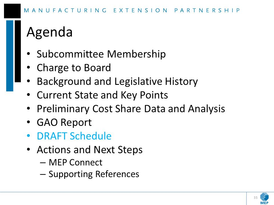 Agenda Subcommittee Membership Charge to Board