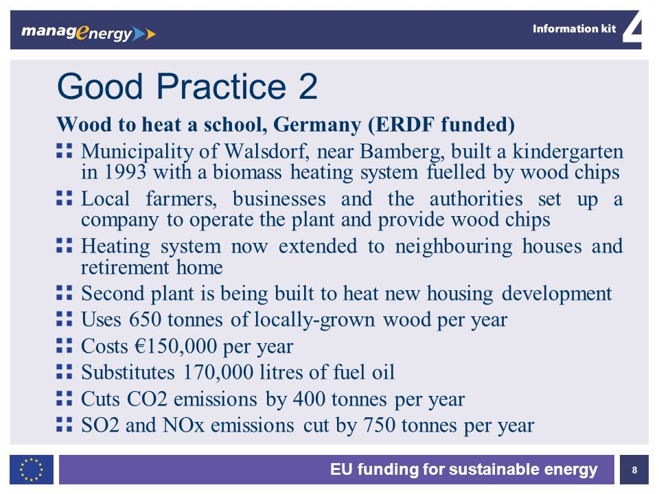 Good Practice 2 Wood to heat a school, Germany (ERDF funded)