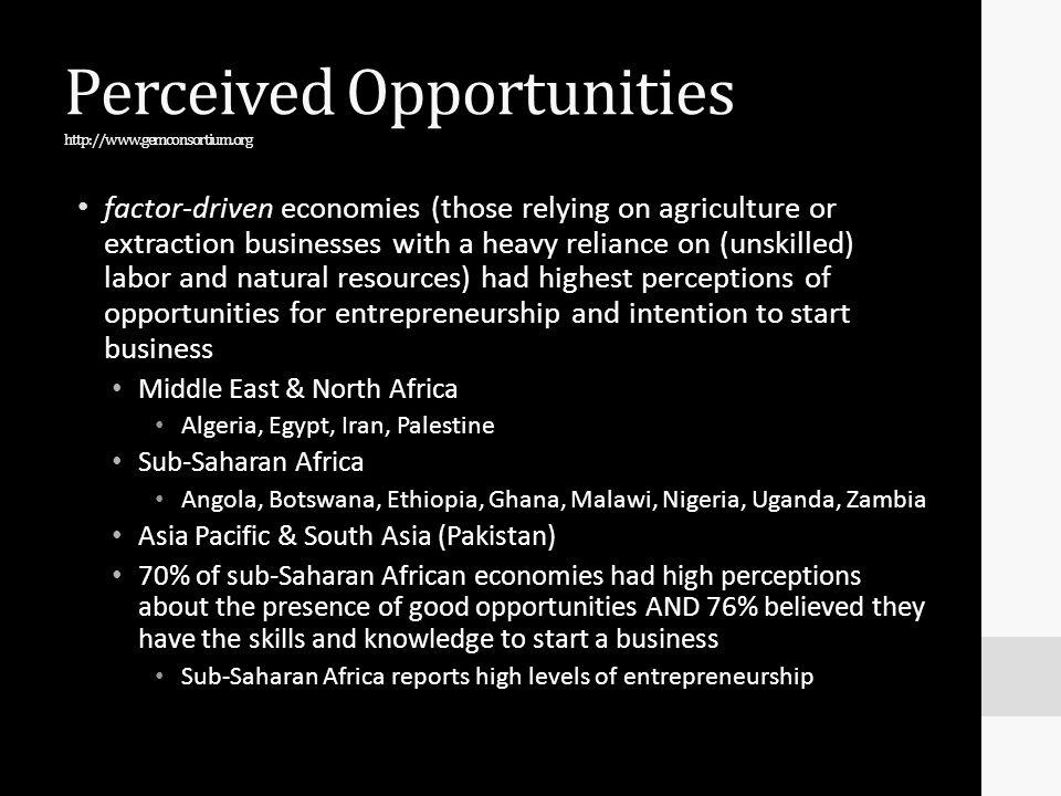 Perceived Opportunities http://www.gemconsortium.org