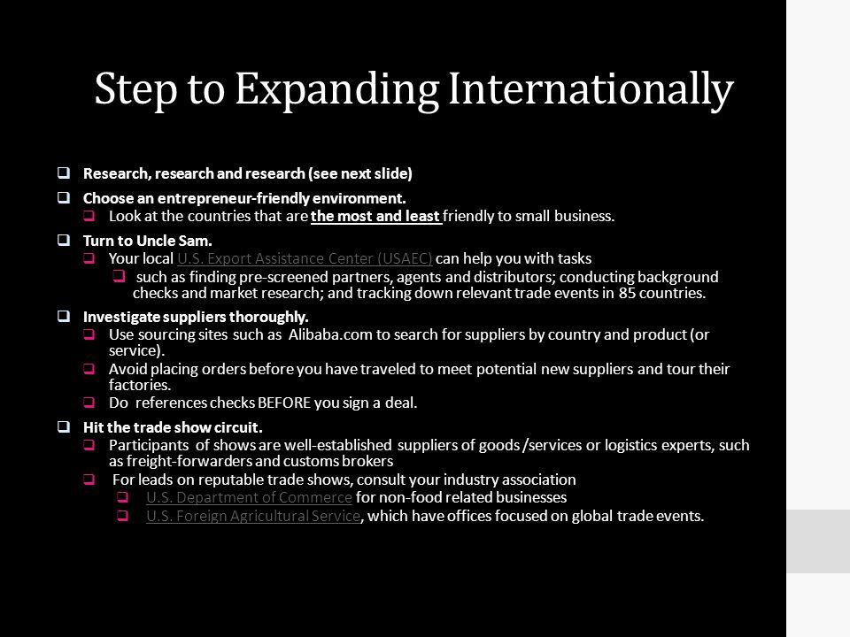 Step to Expanding Internationally