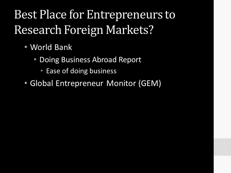 Best Place for Entrepreneurs to Research Foreign Markets