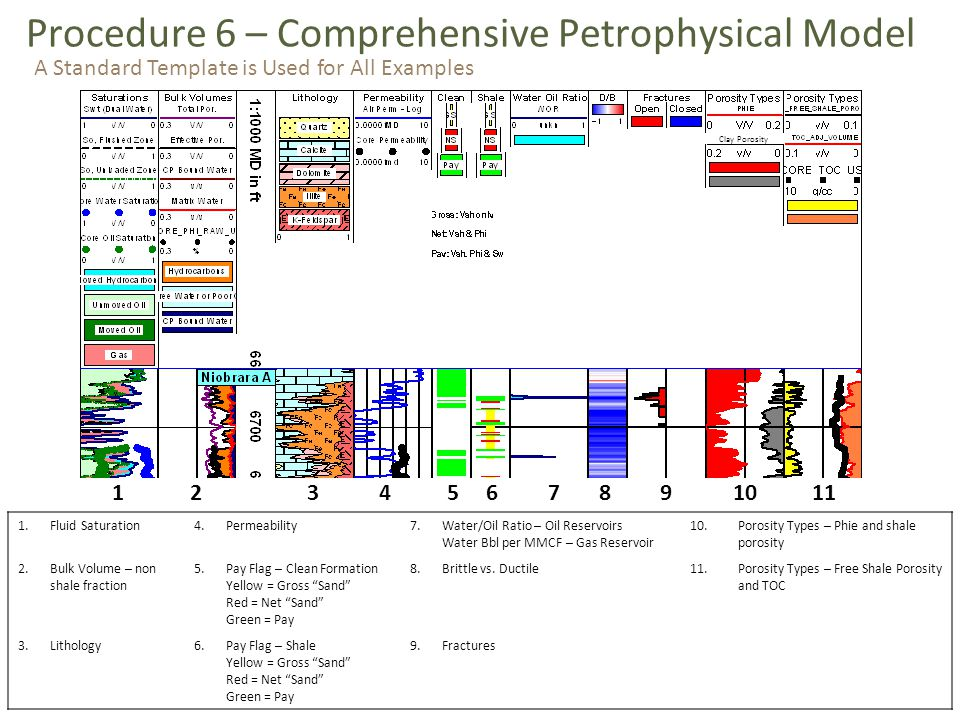 Procedure 6 – Comprehensive Petrophysical Model