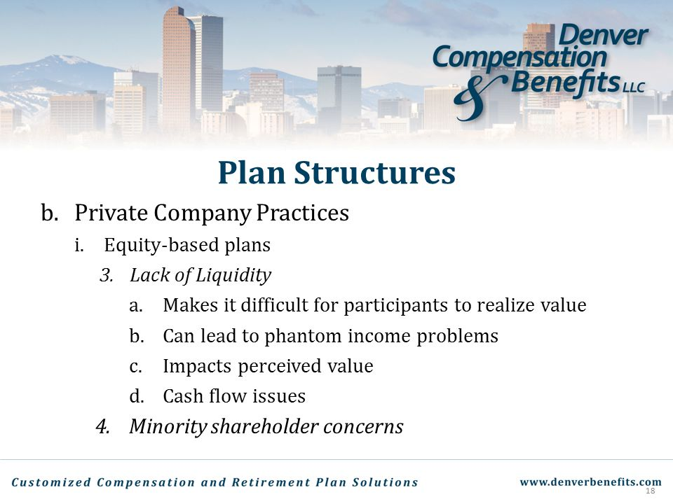Plan Structures Private Company Practices
