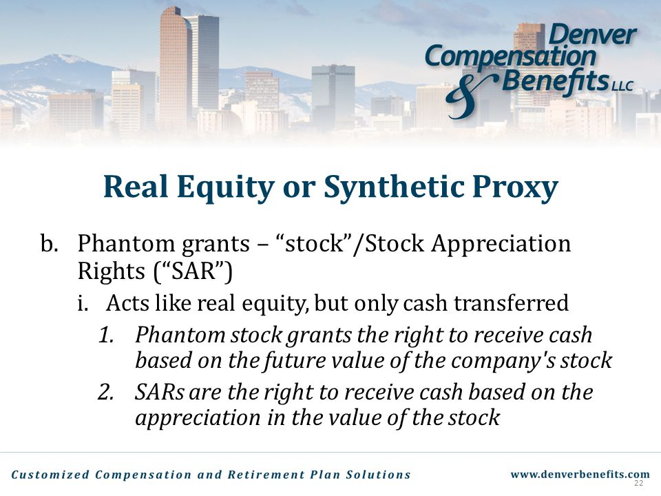 Real Equity or Synthetic Proxy
