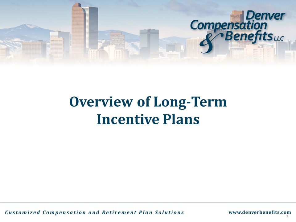 Overview of Long-Term Incentive Plans