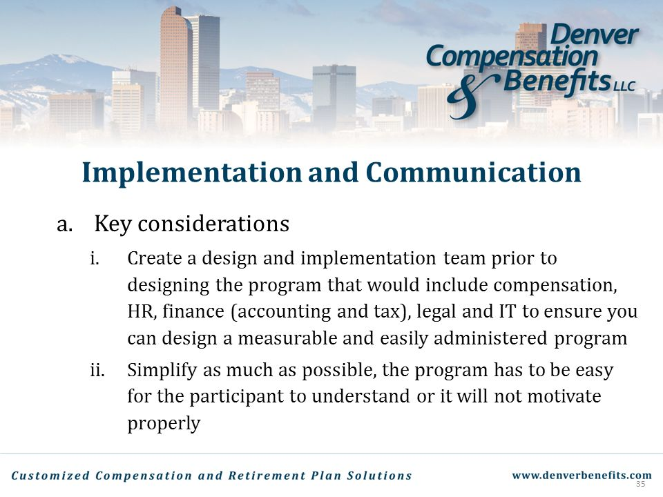 Implementation and Communication