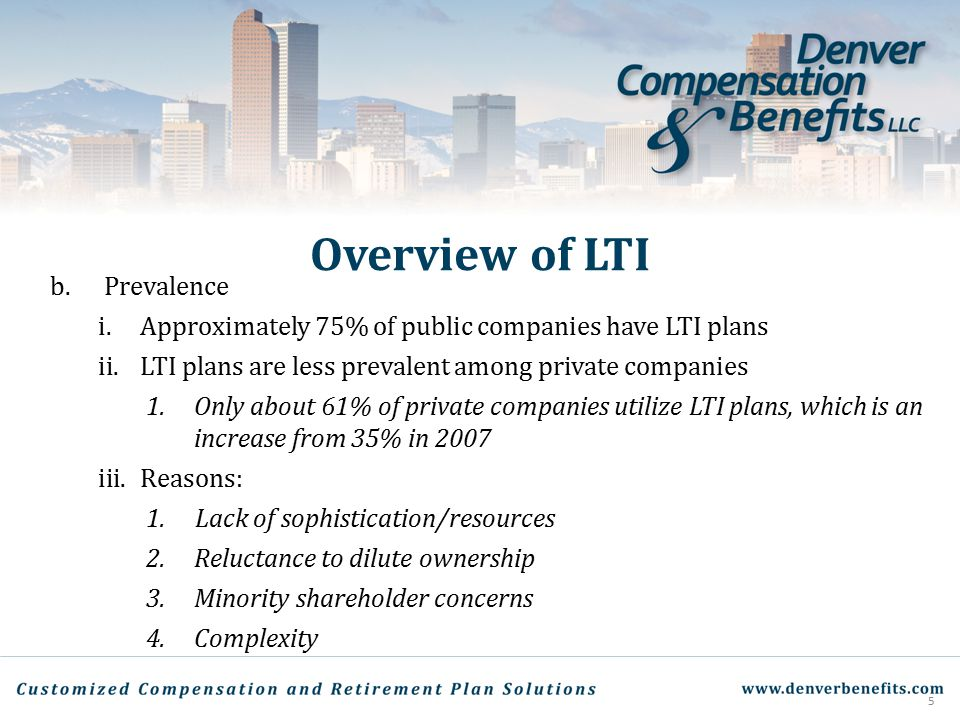 Overview of LTI Prevalence