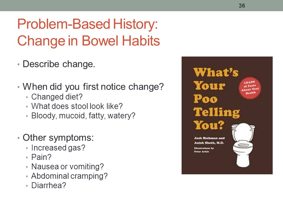 Problem-Based History: Change in Bowel Habits