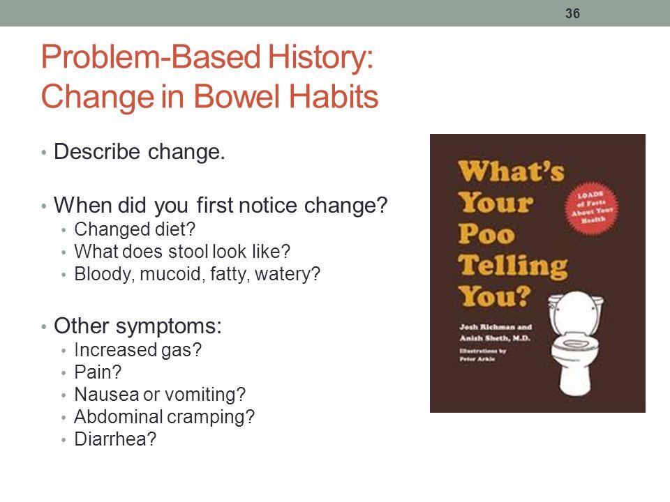 Problem-Based History: Change in Bowel Habits