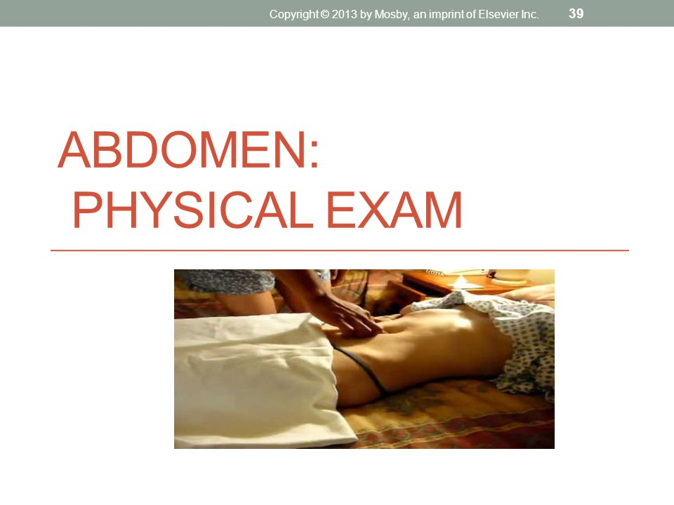 Abdomen: Physical Exam