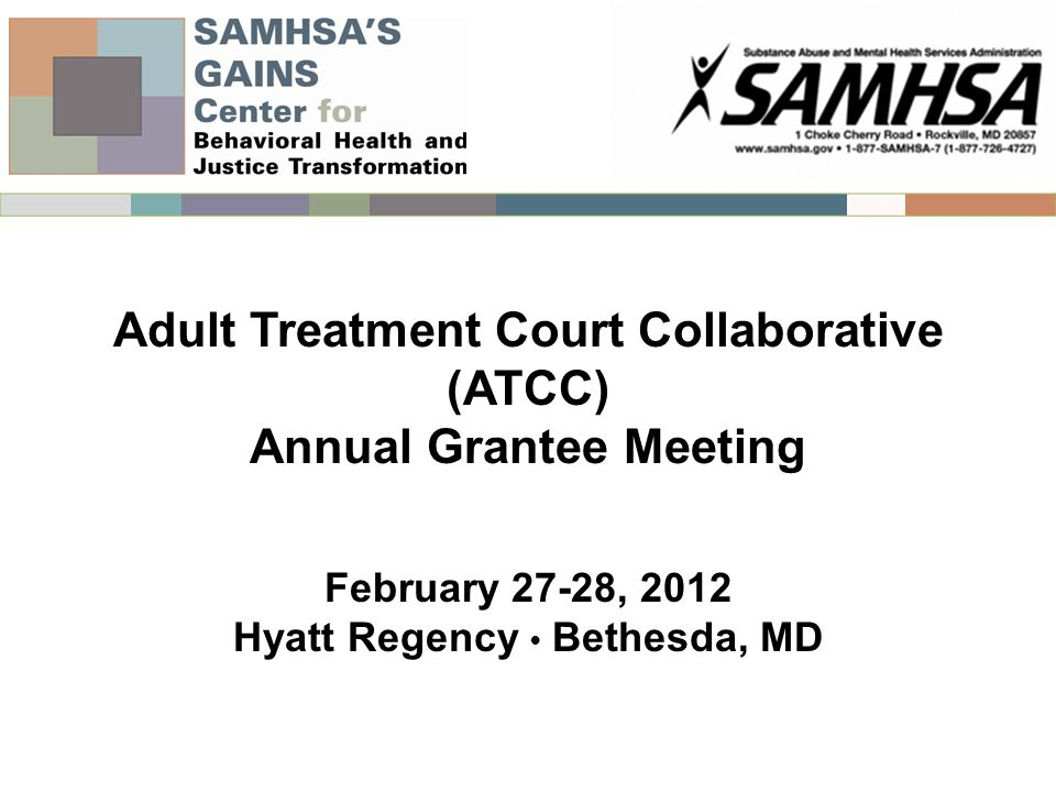 Adult Treatment Court Collaborative (ATCC) Annual Grantee Meeting