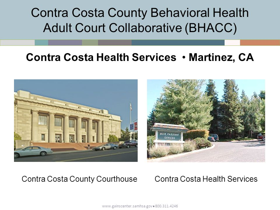 Contra Costa County Behavioral Health Adult Court Collaborative (BHACC)