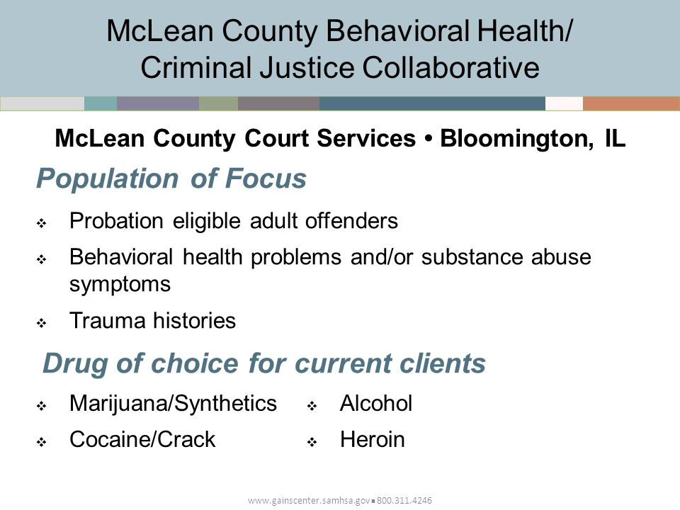 McLean County Behavioral Health/ Criminal Justice Collaborative