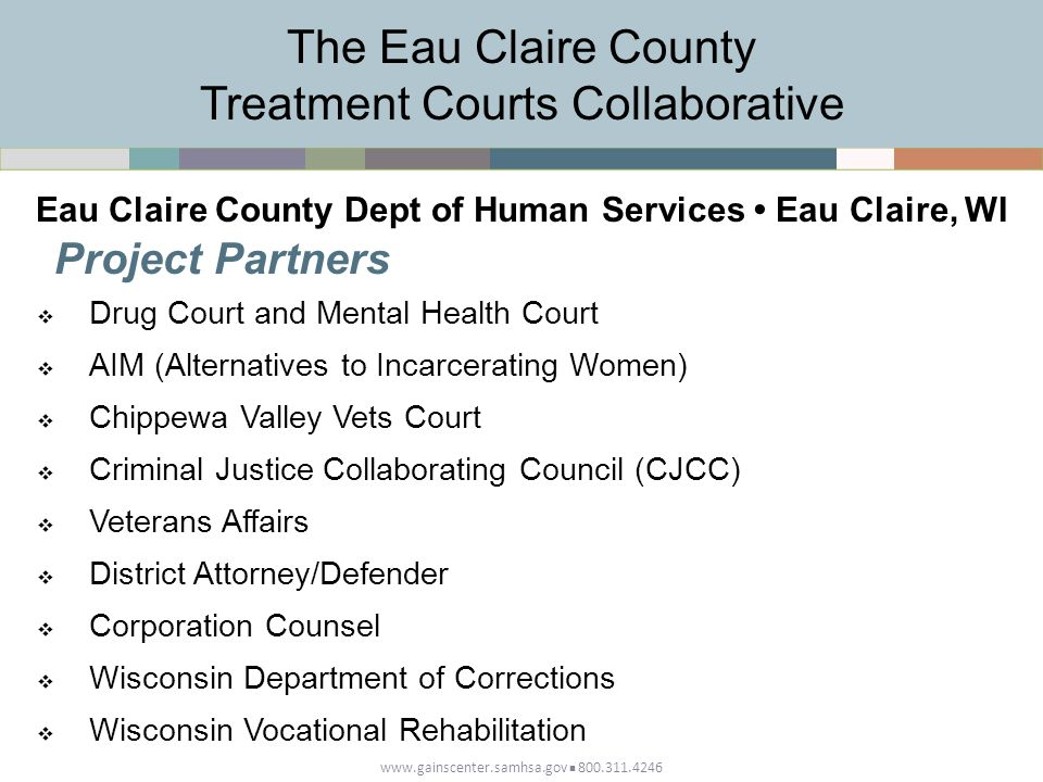 The Eau Claire County Treatment Courts Collaborative
