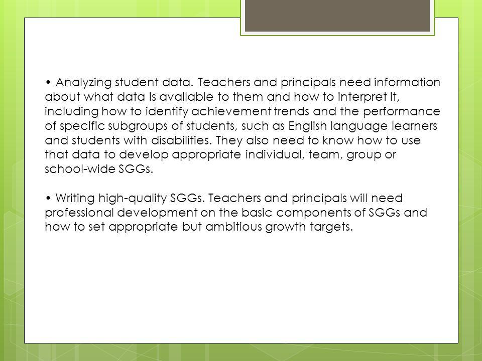 • Analyzing student data