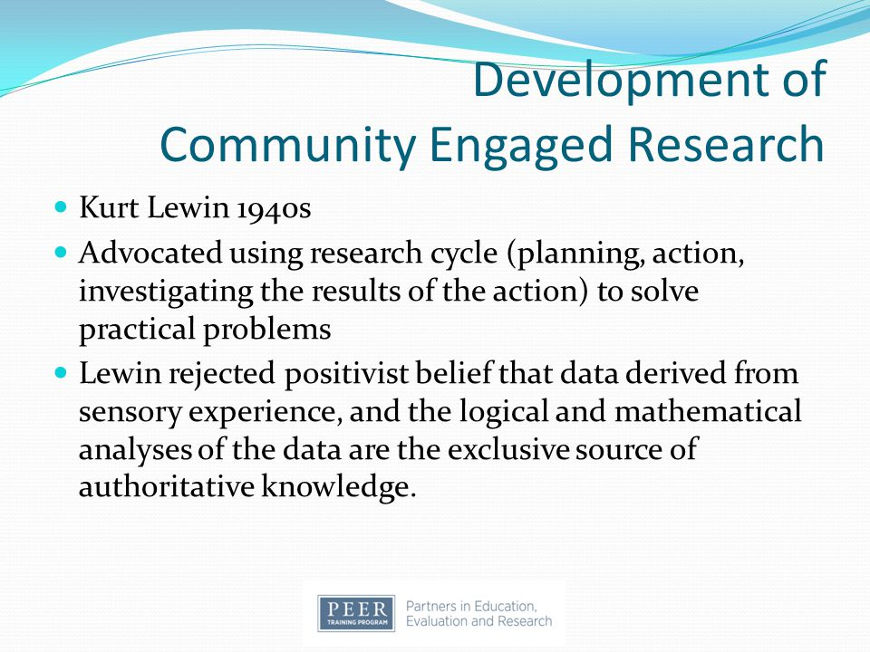 Development of Community Engaged Research