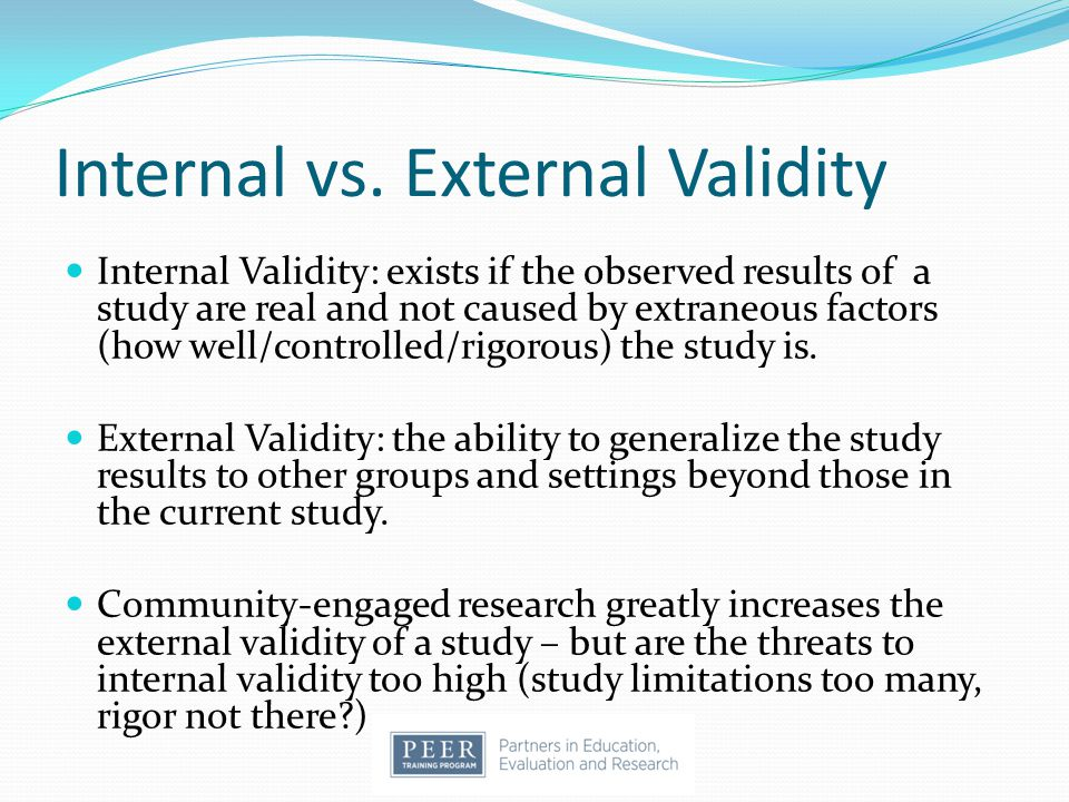 Ensuring Validity - Research Methodology Course
