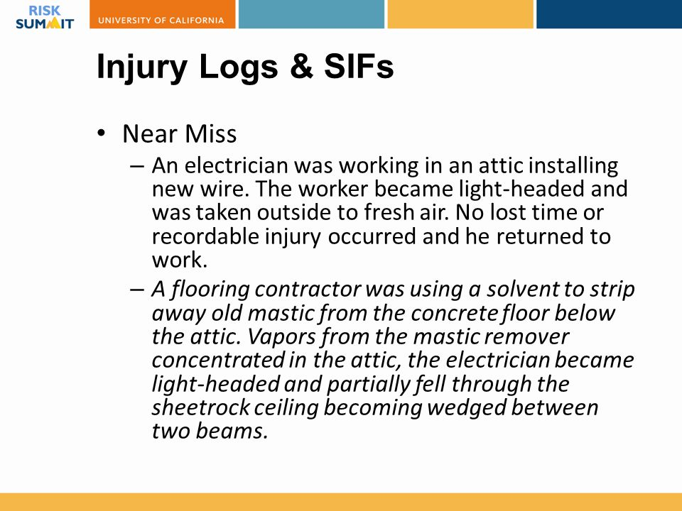 Injury Logs & SIFs Near Miss
