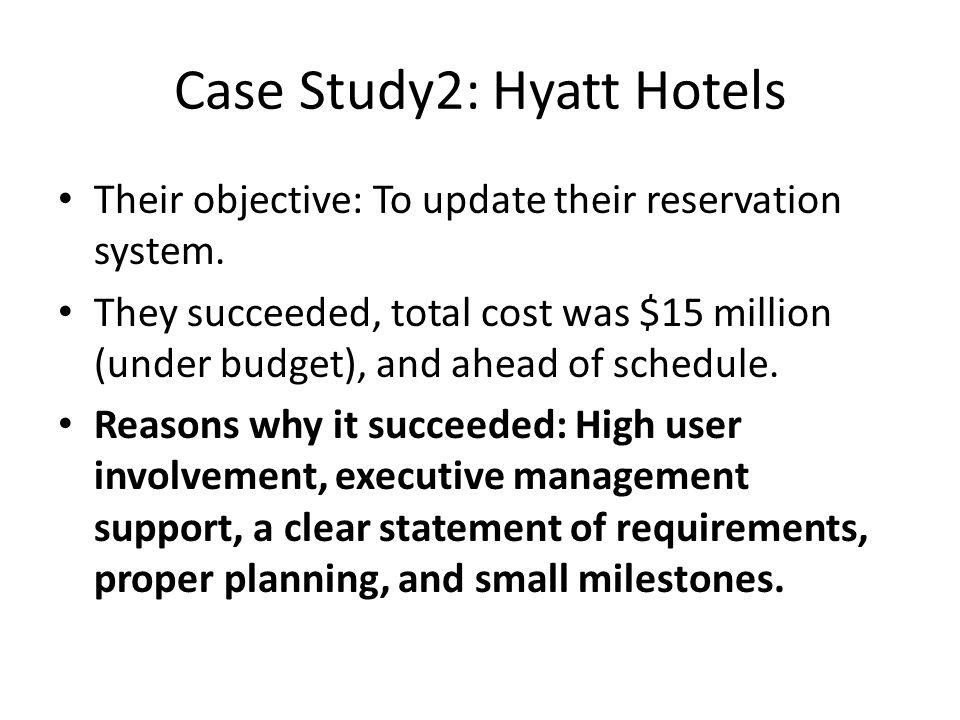 Case Study2: Hyatt Hotels