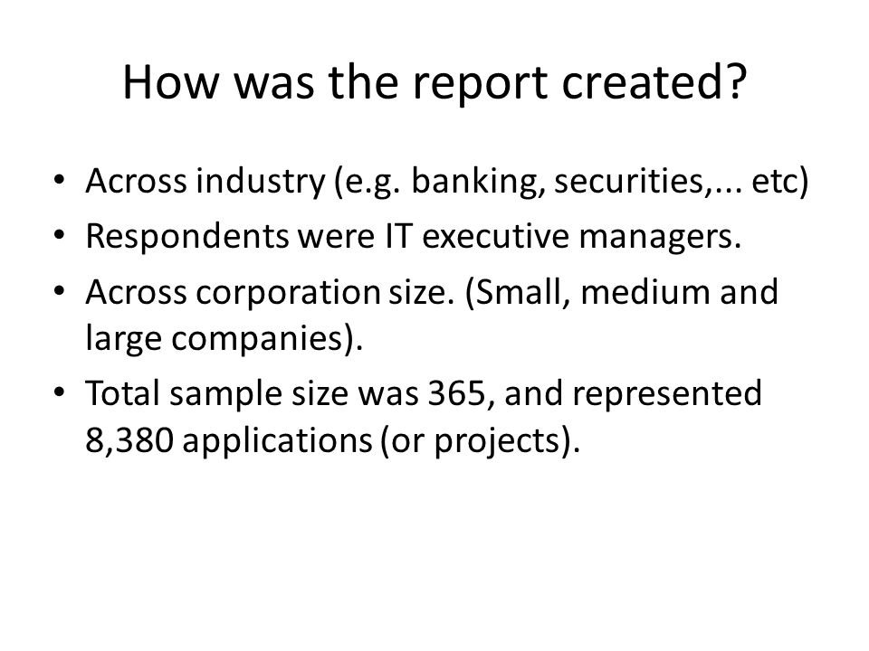How was the report created