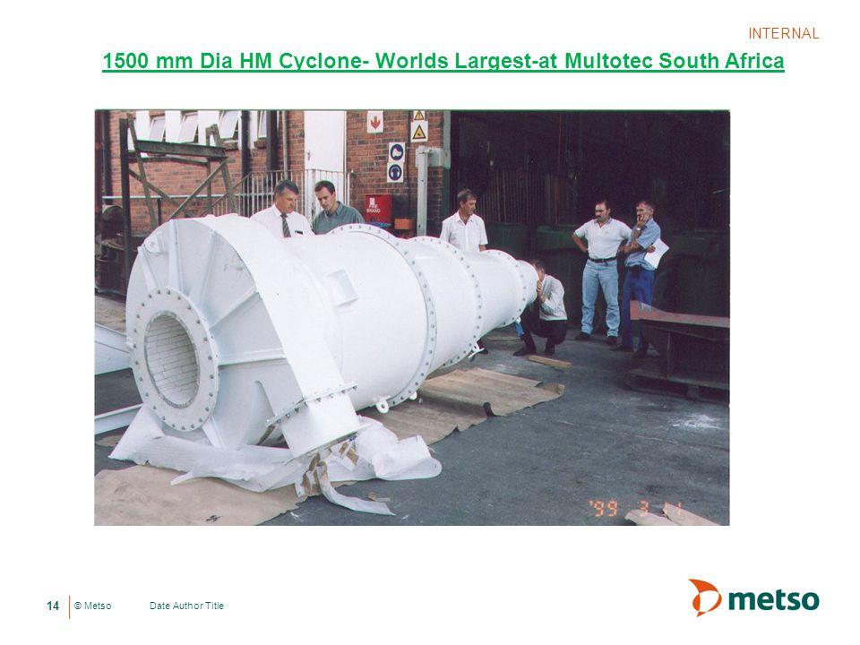 1500 mm Dia HM Cyclone- Worlds Largest-at Multotec South Africa