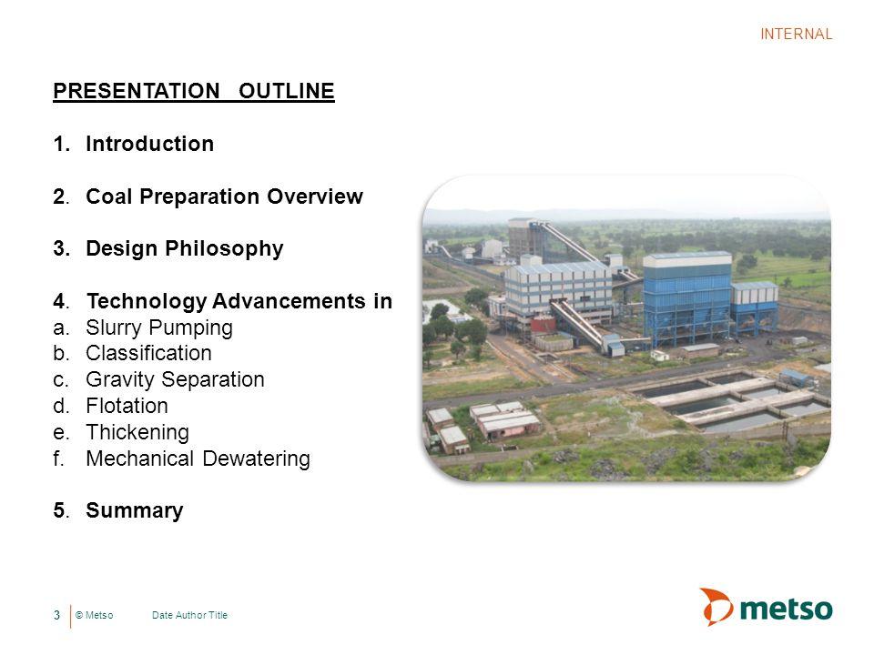 2. Coal Preparation Overview Design Philosophy