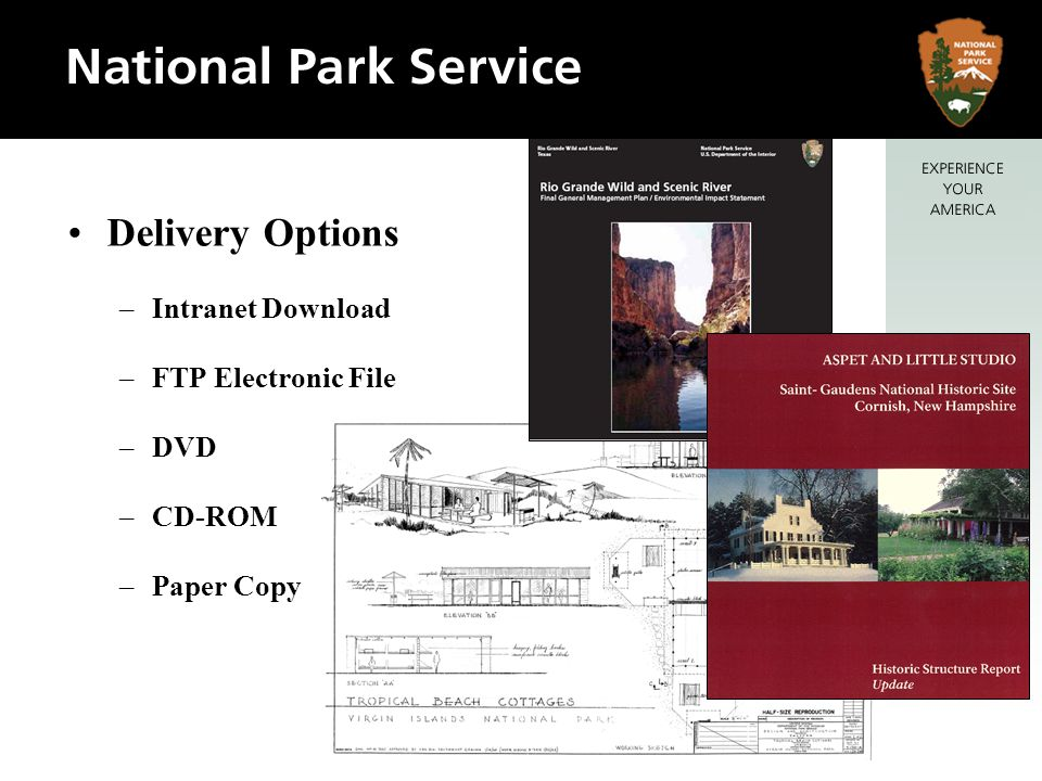 Delivery Options Intranet Download FTP Electronic File DVD CD-ROM