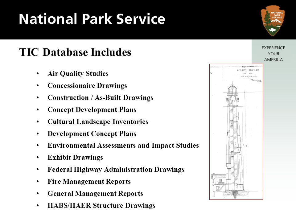 TIC Database Includes Air Quality Studies Concessionaire Drawings