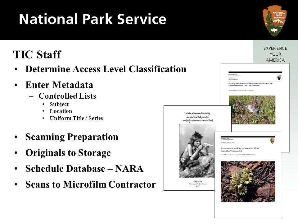 TIC Staff Determine Access Level Classification Enter Metadata